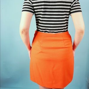 Victoria Beckham for Target Skirts - Victoria Beckham x Target Orange Mini Skirt